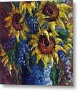 Sunflower Bouquet Metal Print by David G Paul