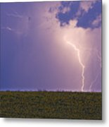 Sunflower Fields Lightning Storm Nature Print Metal Print by James BO  Insogna