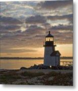 Sunrise At Brant Point Nantucket Metal Print by Henry Krauzyk