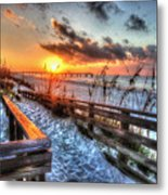Sunrise At Cotton Bayou  Metal Print by Michael Thomas