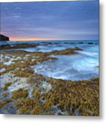 Sunrise Beneath The Storm Metal Print by Mike  Dawson