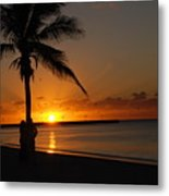 Sunrise In Key West Fl Metal Print by Susanne Van Hulst