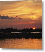 Sunrise Over Delacroix Island Metal Print by Medford Taylor