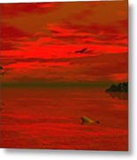 Sunset Arrival Metal Print by Claude McCoy