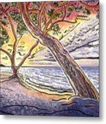 Sunset At Anaehoomalu Bay Metal Print by Fay Biegun - Printscapes