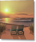 Sunset Beach Metal Print by Corey Ford