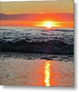 Sunset Beach Metal Print by Douglas Barnard