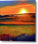 Sunset Eat Fire Spring Rd Nantucket Ma 02554 Large Format Artwork Metal Print by Duncan Pearson
