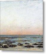 Sunset Metal Print by Gustave Courbet