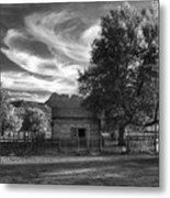 Sunset In Grafton Ghost Town Metal Print by Sandra Bronstein
