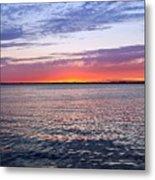 Sunset On Barnegat Bay I - Jersey Shore Metal Print by Angie Tirado