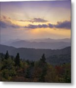 Sunset On The Blue Ridge Parkway Metal Print by Rob Travis