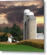 Sunset On The Farm Metal Print by David Dehner