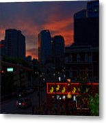 Sunset Over Nashville Metal Print by Susanne Van Hulst