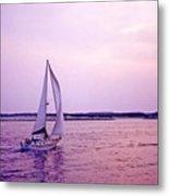 Sunset Sailing Metal Print by Bill Jonscher