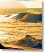 Sunset Surfers Metal Print by Kevin Smith