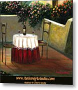 Sunset Table Metal Print by Italian Art