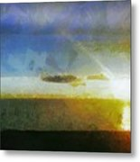 Sunset Under The Clouds Metal Print by Jeff Kolker