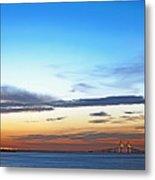 Sunshine Skyway Bridge Metal Print by Skip Nall