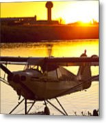 Super Cub At The End Of The Day Metal Print by Tim Grams