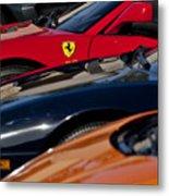Supercars Ferrari Emblem Metal Print by Jill Reger
