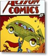 Superman Comic Book, 1938 Metal Print by Granger