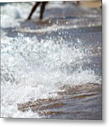 Surf Crashing Metal Print by Lisa Knechtel