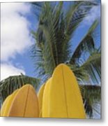 Surfboard Concession Metal Print by Bob Abraham - Printscapes