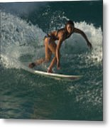 Surfer Girl Metal Print by Brad Scott