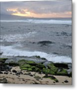 Surfing Sunset Metal Print by Andy Smy