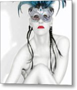Survivor - Self Portrait Metal Print by Jaeda DeWalt