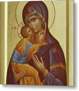 Sweet Kissing Mother Of God Metal Print by Julia Bridget Hayes