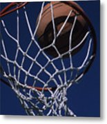 Swish.  A Basketball Metal Print by Stacy Gold