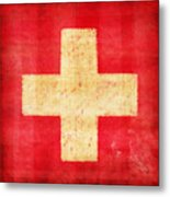 Switzerland Flag Metal Print by Setsiri Silapasuwanchai