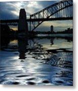 Sydney Harbour Bridge Reflection Metal Print by Avalon Fine Art Photography