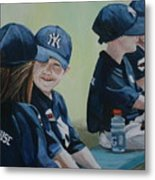 T Ball Friends Metal Print by Charlotte Yealey