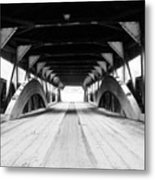 Taftsville Covered Bridge Metal Print by Greg Fortier