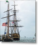 Tall Ships Hms Bounty And Privateer Lynx At Peanut Island Florida Metal Print by Michelle Wiarda