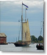 Tall Ships Sailing II Metal Print by Suzanne Gaff