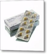 Tamiflu Capsules Metal Print by Mark Sykes