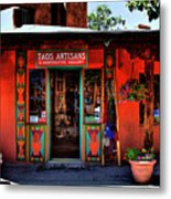 Taos Artisans Gallery Metal Print by David Patterson