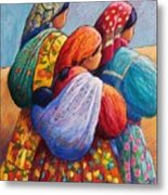 Tarahumara Women Metal Print by Candy Mayer