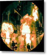 Target In Flames Metal Print by Andy Smy