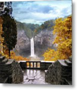 Taughannock In Autumn Metal Print by Jessica Jenney