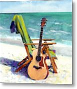 Taylor At The Beach Metal Print by Andrew King