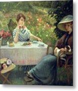 Tea Time Metal Print by Jacques Jourdan