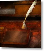 Teacher - The Writing Desk Metal Print by Mike Savad