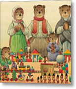 Teddybears And Bears Christmas Metal Print by Kestutis Kasparavicius