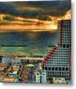 Tel Aviv Lego Metal Print by Ron Shoshani