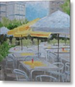 Terrace Cafe Metal Print by Robert Rohrich